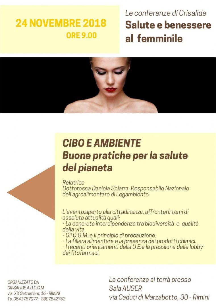 Salute E Benessere Al Femminile Il 24 Novembre A Rimini Conferenza Su Cibo E Ambiente