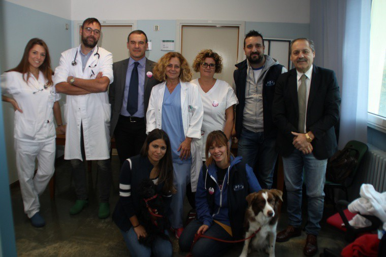 Partita la Pet Therapy all'ospedale Infermi di Rimini