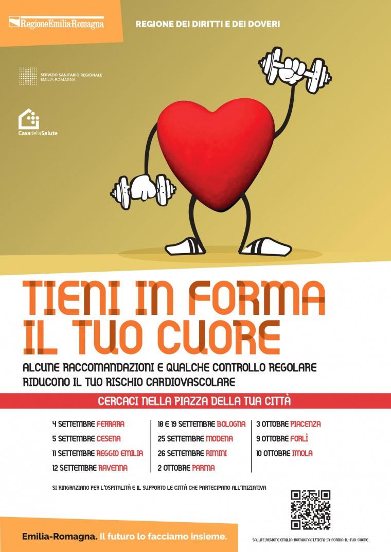 """La campagna regionale """"Tieni in forma il tuo cuore"""" fa tappa a Ravenna.  Domenica 12 settembre"""