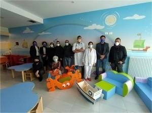 Arredi in dono per la sala giochi del nuovo reparto di Pediatria dell'Infermi
