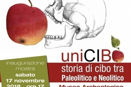 """UniCIBO. Storia di cibo tra Paleolitico e Neolitico. Mostra nel museo Archeologico Civico """"Tobia Aldini"""" (Forlimpopoli). Con la collaborazione di Ausl Romagna Cultura"""