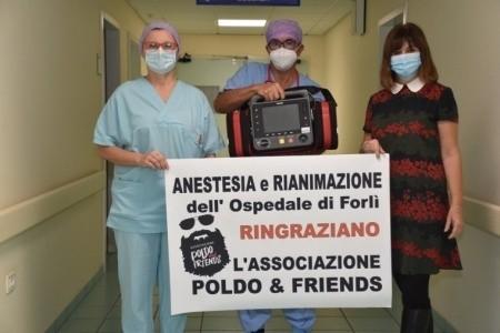 """L'Associazione """"Poldo and Friends"""" dona alla Rianimazione di Forlì attrezzature per un valore di quasi 24 mila euro"""