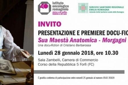 """Presentazione Docufiction """"Sua Maestà Anatomica G.B. Morgagni"""" (Forlì, 28 Gennaio 2019)"""