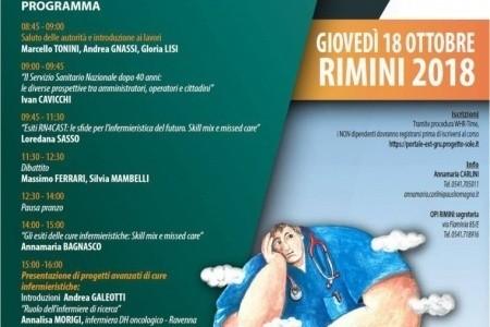 Infermieri e qualità delle cure: il 18 ottobre a Rimini corso organizzato da Associazione Antonella Santullo, AUSL e Ordine Professioni Infermieristiche Rimini