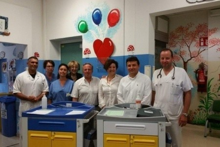 Donazione alla Pediatria ravennate dai dipendenti Enel