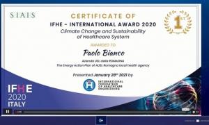IL PIANO ENERGETICO DELL' AUSL ROMAGNA PREMIATO A IFHE 2020